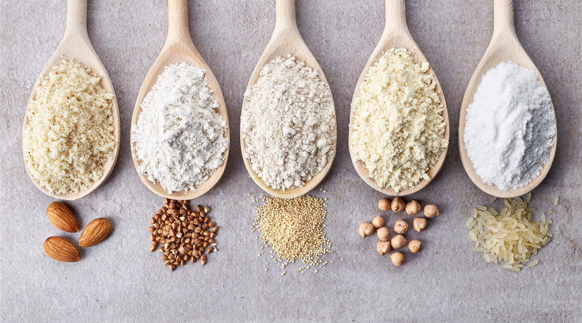 Almond, Buckwheat, Amaranth, Chickpea, Rice - just a handful of the many options to use in place of wheat